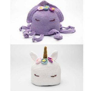Patrón muñeco reversible Calamar-Unicornio